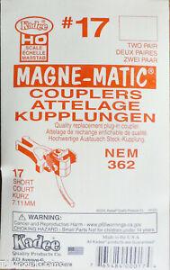 Kadee HO #17 NEM (362) European-Style Mount Knuckle Coupler - Magne-Matic --