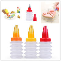 DIY Cream Craft Reusable Icing Piping Bottle & Nozzle Cookie Cupcake Decor Tools
