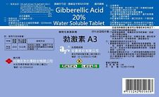 Gibberellic Acid GA3 20% Water Soluble Tablet ST 5g 2bags (total 10g) PGR TC