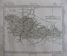 1835 Carte Atlas Géographique France Département Moselle Lorraine