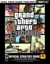 Grand Theft Auto San Andreas Official Strategy Guide w/ Poster Brady Games GTA