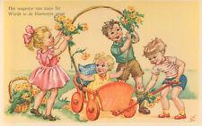 FANTASY POSTCARDS CHILDREN 7x (HOLLAND CA. 1955)