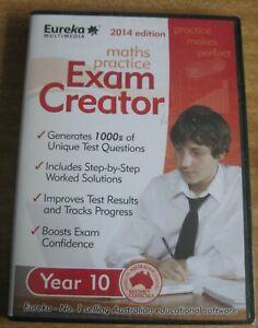 1 X PC CD - MATHS PRACTICE EXAM CREATOR - YEAR 10 - 2014 EDITION -  STILL SEALED