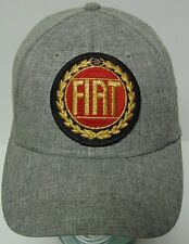 GREY FIAT ITALY CARS AUTOMOBILES ADVERTISING PATCH SIZE S/M SMALL/MEDIUM HAT CAP