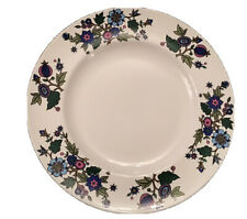 """More details for 10.5"""" vintage midwinter alpine blue dinner plate by jessie tait"""