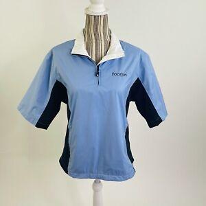 Footjoy Dryjoy Womens Blue Collared Short Sleeve Golf Pullover Jacket Small