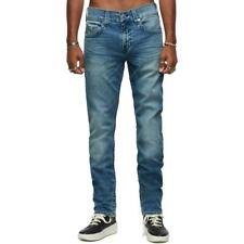 True Religion Mens Blue Denim High Rise Medium Wash Slim Jeans 29 BHFO 6853