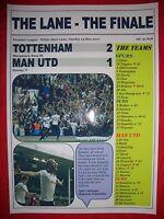Spurs 2 Man Utd 1 - 2017 Premier League - The Lane Finale - souvenir print