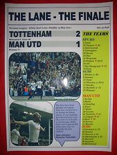 Spurs 2 Man Utd 1 - 2017 Premier League - The Lane Finale - souvenir print