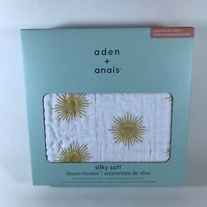 """Aden + Anais Silky Soft Dream Blanket - Golden Sun (47"""" x 47"""", Bamboo Muslin)"""