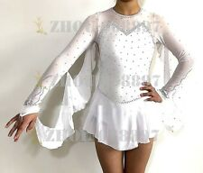 Competition Skating Wear Quick Dry Anatomic Design Handmade Classic white wing