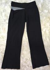 f5e597a27081b ALO Yoga Cool Fit Black Gray Yoga Flare Legging Pants Sz M