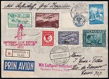 Zeppelin LZ 127 - 5. Südamerikafahrt 1933 - Post von Rumänien