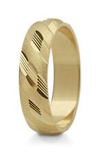 1 Ring Gold 585 Trauring Ehering Hochzeitsringe mit blitzendem Muster - B: 5mm