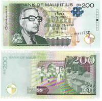 UNC MAURITIUS 200 Rupees (2013) P-61b