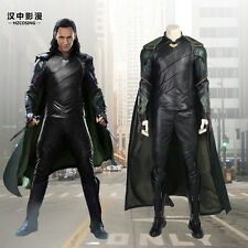 HZYM Thor Ragnarok Loki Cosplay Costume Deluxe Leather Outfit Custom Made