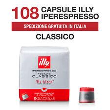 108 Capsule caffè espresso ILLY Iperespresso tostato CLASSICO (rosso)