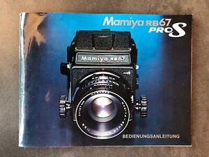 Mamiya RB67 ProS Bedienungsanleitung Gebrauchsanweisung Deutsch
