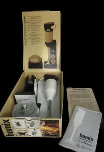 Vintage Bamix De Luxe M122 2 Speed Immersion Blender Mixer New W/ Recipes