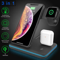 3 in 1 Wireless Charger Fast Charging Dock Stand For iPhone 11/11 Pro Max/XS Max