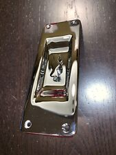 Rejuvenation Hardware New Old Stock Pocket Door Pull Plate - Chrome Thumbturn