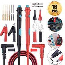 16 In 1 Multimeter Test Lead Kit For Fluke Meter Electrical Alligator Clip Probe