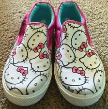 NEW WITH TAGS! Hello Kitty Canvas Slip-on Shoes Size 2
