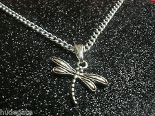 """10 Silver Plated 16"""" Necklaces & Dragonfly Pendants Wholesale Jewellery Job Lot"""
