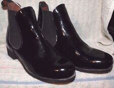 USED MISMATCHED Ovation JOD  Boots Youth size 1- 2 Black Patent Leather #464690
