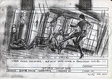 SUPERMAN II PRODUCTION STORY BOARD - URSA KICKS SOLDIER