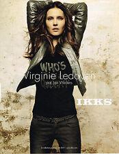 PUBLICITE ADVERTISING 014   2011   IKKS   pret à porter VIRGINIE LEDOYEN