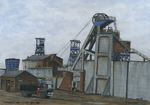 Hickleton Main Colliery - 1892 - 1988 - Ltd Ed Print - Pit Pics - Coal Mining