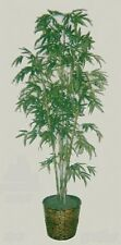7' BAMBOO PALM ARTIFICIAL SILK TREE PLANT IN BASKET BUSH PATIO BUSH HOME DECOR