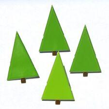Brads - Bulk - Green Pine christmas tree xmas - pk of 15 - scrapbooking