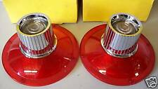 FORD 1964 GALAXIE TAIL LIGHTS WITH BACK UP LENS NEW NICE RAT ROD STREET ROD NICE