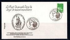 j/  enveloppe  departement de l'ain et du monblanc  Marianne  2,70 vert  1997