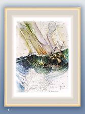 aquarelles peinture tableau watercolor painting marine décoration boat seascape