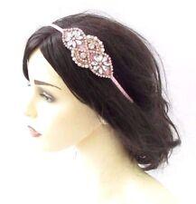 Rose Gold Blush Light Pink Ivory Silver Bridal Headband Headpiece Diamante 3844