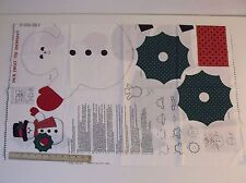 Cranston VIP Fabric Panel Cut Sew Stuff Jack Frost The Snowman NEW Uncut Christ