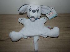 doudou marionnette chien dalmatien blanc gris bleu disney baby neuf