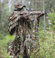 3D Leaf Camouflage Clothing CS Camo Coverall Sniper Archery Hunting Ghillie Suit