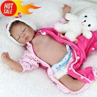22'' Reborn Baby Dolls Handmade Lifelike Newborn Silicone Vinyl Belly Doll Gifts