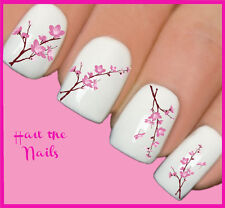Nails Nail Art Water Transfers Decals Wraps Bouquet Flowers Pink Blossom Y129