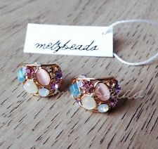 Ladies,Fashion,Pink,White,Blue,Gold,Vintage,Stud,Rhinestones,Earring,Eclectic