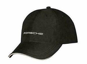 New Genuine Porsche Drivers Selection Black Script Baseball Cap Hat WAP0800020C