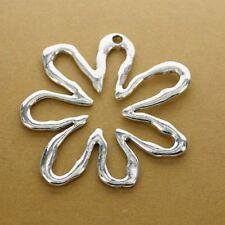4pcs Tibetan silver color hollow flower design  charms  h0909