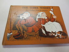 The Three Wishes Paul Galdone drew the pictures vintage 1961  2nd printing hb
