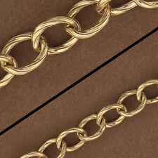14kt Gold Filled Patterned Chain. Gold Filled Oval Chain. Gold Chain/Foot GF4555