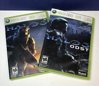2 Game Lot:  Halo 3 & Halo 3 ODST (Microsoft Xbox 360) TESTED See Pics
