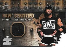 2002 Fleer WWE Raw vs Smackdown Raw Certified X-Pac NWO Shirt Relic Card